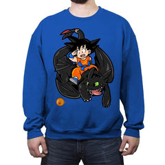 How to Train your Dragon Ball - Crew Neck Sweatshirt - Crew Neck Sweatshirt - RIPT Apparel