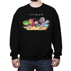 Titan Friends - Crew Neck Sweatshirt - Crew Neck Sweatshirt - RIPT Apparel