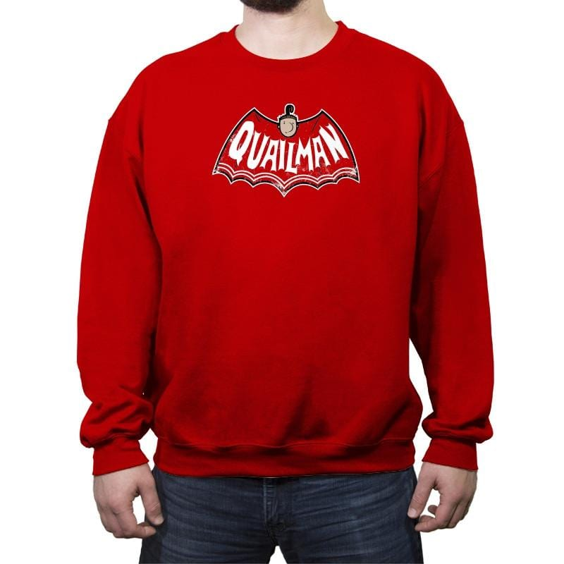 Quail of a Man Reprint - Crew Neck Sweatshirt - Crew Neck Sweatshirt - RIPT Apparel