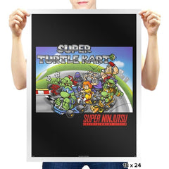 Super Turtle Kart Exclusive - Prints - Posters - RIPT Apparel