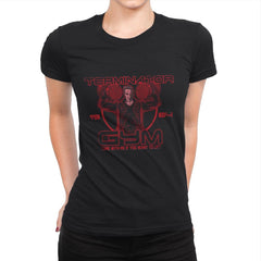 Terminator Gym - Womens Premium - T-Shirts - RIPT Apparel