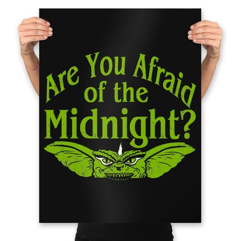 Are you afraid of the Midnight? - Prints - Posters - RIPT Apparel