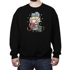 Mother Of Cats - Crew Neck Sweatshirt - Crew Neck Sweatshirt - RIPT Apparel