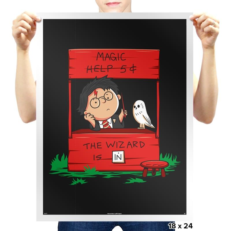 Harry The Wizard - Prints - Posters - RIPT Apparel