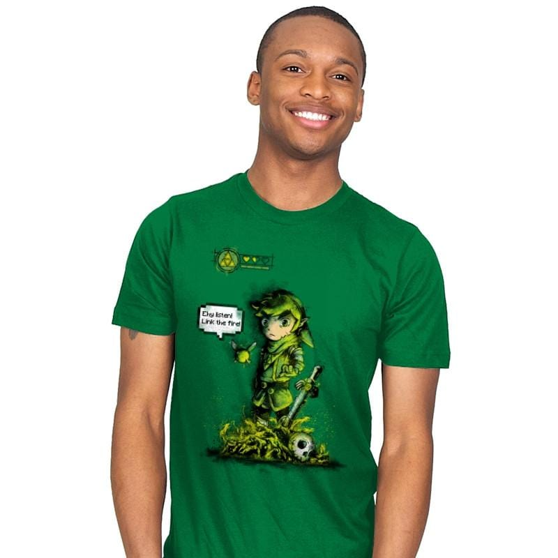 Link the Fire - Mens - T-Shirts - RIPT Apparel