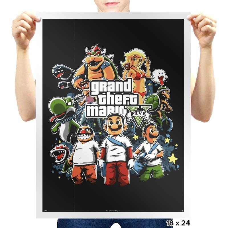Grand Theft Mario V Reprint - Prints - Posters - RIPT Apparel