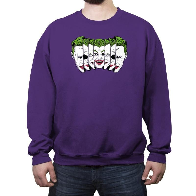 The Joke Has Many Faces Reprint - Crew Neck Sweatshirt - Crew Neck Sweatshirt - RIPT Apparel
