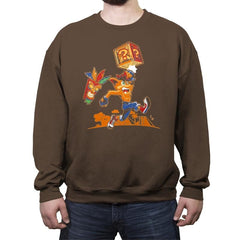 Crash Bash! - Crew Neck Sweatshirt - Crew Neck Sweatshirt - RIPT Apparel