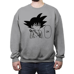 Ok - Sangoku - Crew Neck Sweatshirt - Crew Neck Sweatshirt - RIPT Apparel