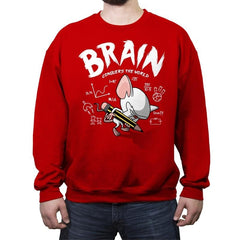 Brain Conquers The World! - Raffitees - Crew Neck Sweatshirt - Crew Neck Sweatshirt - RIPT Apparel