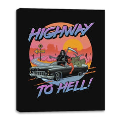 Highway to Hell - Canvas Wraps - Canvas Wraps - RIPT Apparel