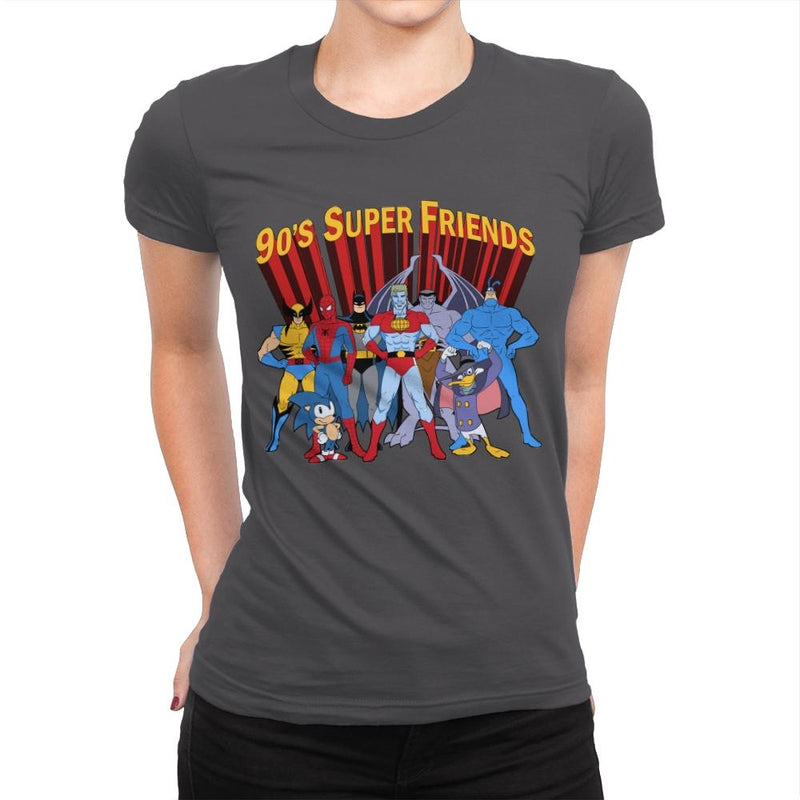 90's Super Friends - Anytime - Womens Premium - T-Shirts - RIPT Apparel