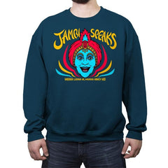 Jambi Speaks - Crew Neck Sweatshirt - Crew Neck Sweatshirt - RIPT Apparel
