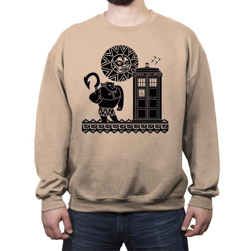 Maui Meets The Doctor - Crew Neck Sweatshirt - Crew Neck Sweatshirt - RIPT Apparel