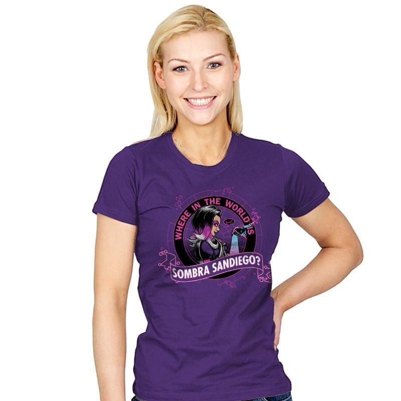 Where in the World is Sombra Sandiego? - Womens - T-Shirts - RIPT Apparel