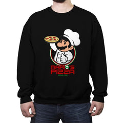 Plumber Pizza - Crew Neck Sweatshirt - Crew Neck Sweatshirt - RIPT Apparel