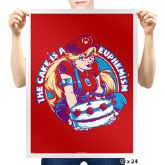 The Cake is a Euphemism - 80s Blaarg - Prints - Posters - RIPT Apparel