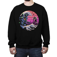 Retro Wave EVA - Crew Neck Sweatshirt - Crew Neck Sweatshirt - RIPT Apparel