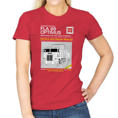 1984 Cab Repair Manual Exclusive - Shirtformers - Womens - T-Shirts - RIPT Apparel