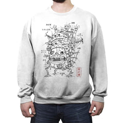 Castle Plan - Crew Neck Sweatshirt - Crew Neck Sweatshirt - RIPT Apparel
