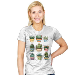Succulents Kawaii - Womens - T-Shirts - RIPT Apparel