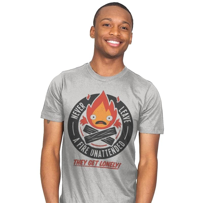 Lonely Fire Demon - Mens - T-Shirts - RIPT Apparel