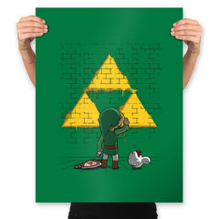 Link Graffiti - Prints - Posters - RIPT Apparel