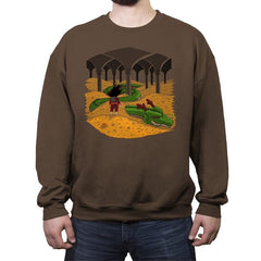 The Desolation of Shenron - Crew Neck Sweatshirt - Crew Neck Sweatshirt - RIPT Apparel