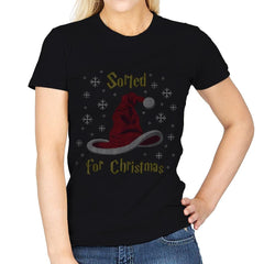 Christmas Sorting Hat - Ugly Holiday - Womens - T-Shirts - RIPT Apparel