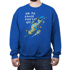 Oh, To Space! - Crew Neck Sweatshirt - Crew Neck Sweatshirt - RIPT Apparel