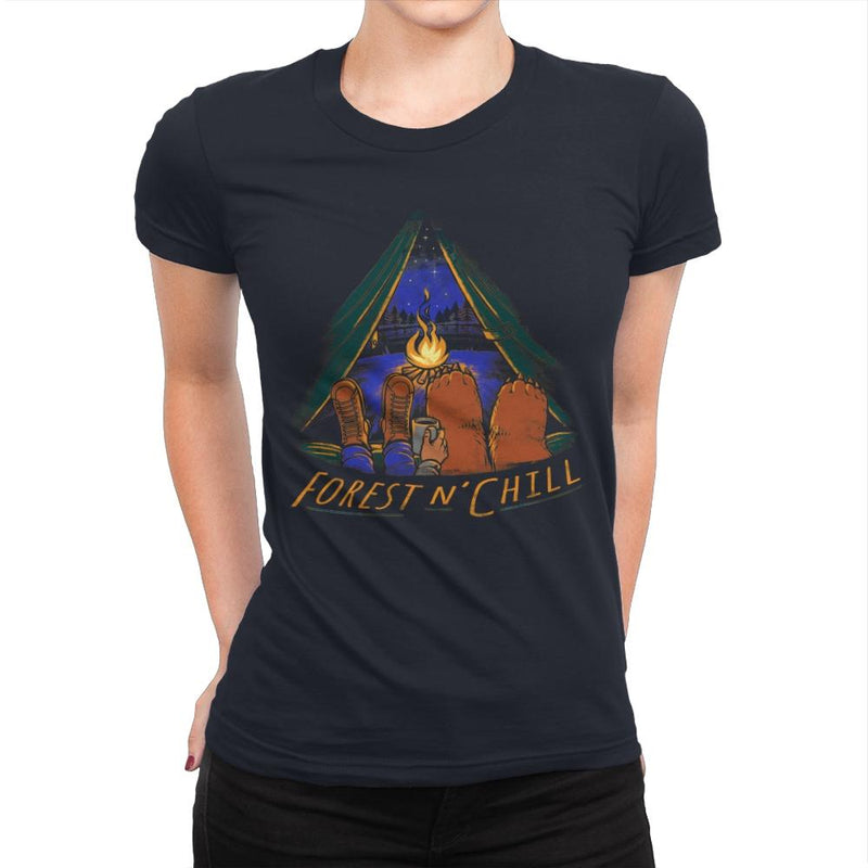 Forest And Chill - Womens Premium - T-Shirts - RIPT Apparel