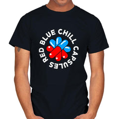 Red Blue Chill Capsules - Mens - T-Shirts - RIPT Apparel