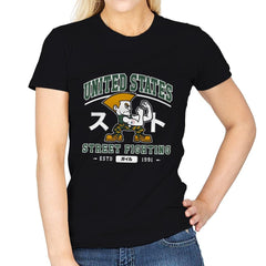 USA Street Fighting - Womens - T-Shirts - RIPT Apparel