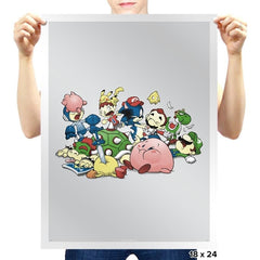 Smash Brawl - Miniature Mayhem - Prints - Posters - RIPT Apparel