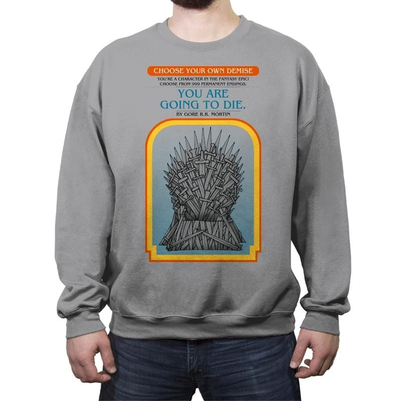 Game of Choices - Crew Neck Sweatshirt - Crew Neck Sweatshirt - RIPT Apparel