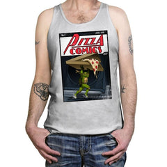 Pizza Comics - Featuring Michelangelo - Tanktop - Tanktop - RIPT Apparel