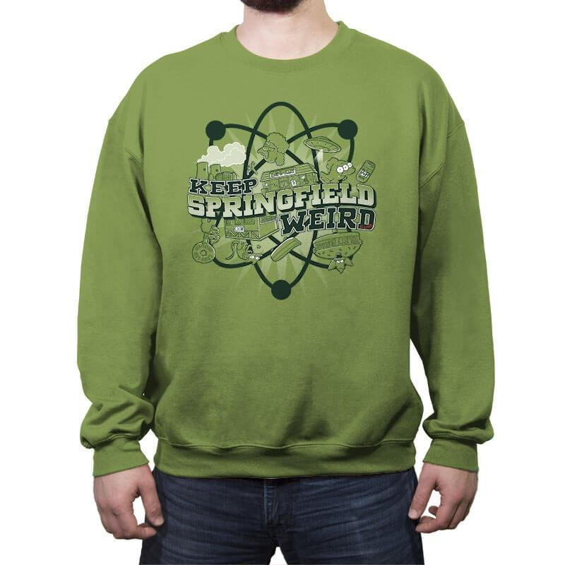 Keep Springfield Weird - Crew Neck Sweatshirt - Crew Neck Sweatshirt - RIPT Apparel
