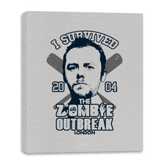 I Survived The Zombie Outbreak - Anytime - Canvas Wraps - Canvas Wraps - RIPT Apparel