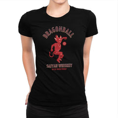 Dragonball Whiskey - Kamehameha Tees - Womens Premium - T-Shirts - RIPT Apparel