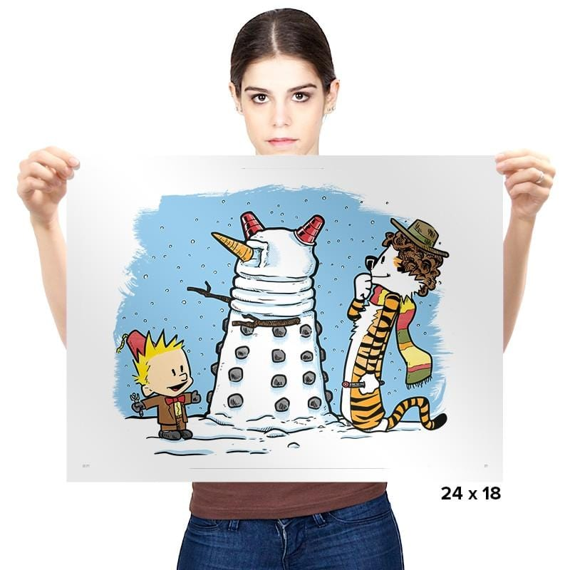 The Snow Dalek - Prints - Posters - RIPT Apparel