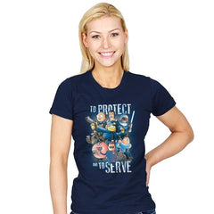 To Protect and To Serve - Womens - T-Shirts - RIPT Apparel