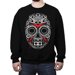 Sugar Skull Slasher - Crew Neck Sweatshirt - Crew Neck Sweatshirt - RIPT Apparel