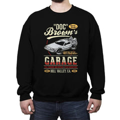 Doc Brown's Garage - Crew Neck Sweatshirt - Crew Neck Sweatshirt - RIPT Apparel