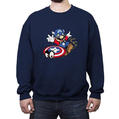 Super Captain Odyssey - Crew Neck Sweatshirt - Crew Neck Sweatshirt - RIPT Apparel