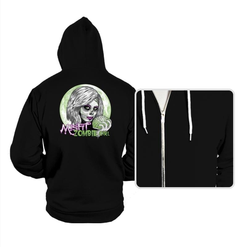 Zombie Girl - Hoodies - Hoodies - RIPT Apparel