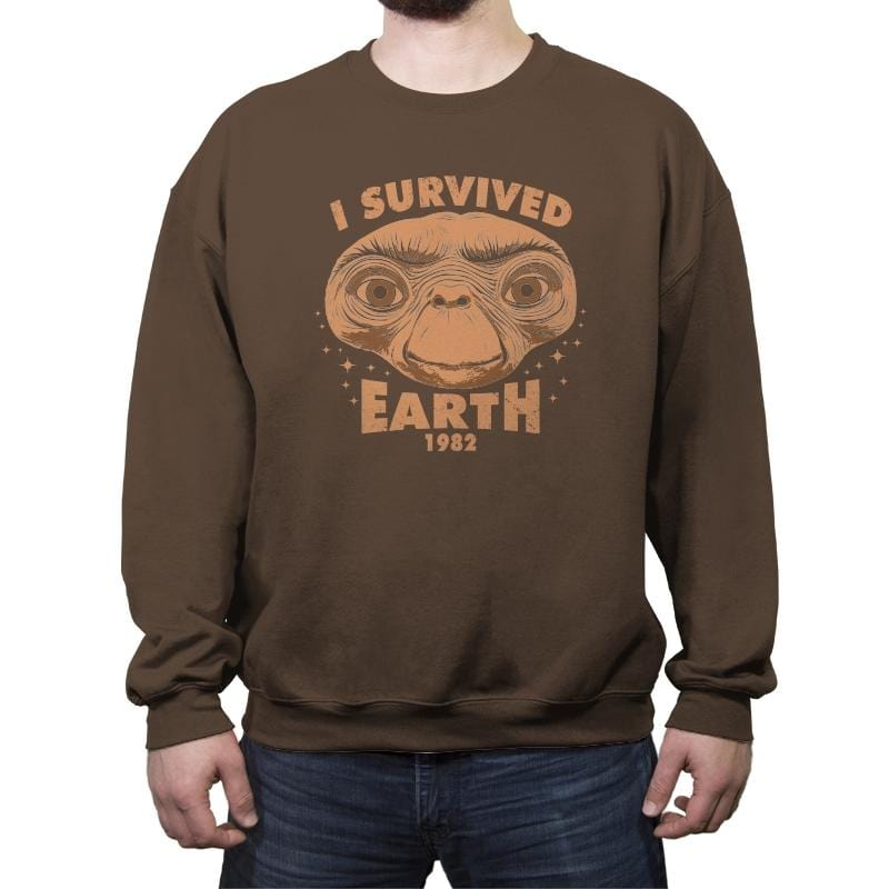 I Survived Earth - Crew Neck Sweatshirt - Crew Neck Sweatshirt - RIPT Apparel