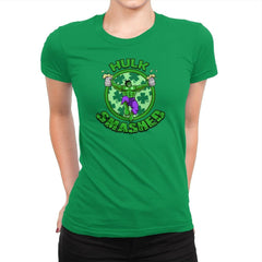 Hulk Smashed Exclusive - St Paddys Day - Womens Premium - T-Shirts - RIPT Apparel