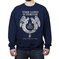 Time Lord Superstar - Record Collector - Crew Neck Sweatshirt - Crew Neck Sweatshirt - RIPT Apparel