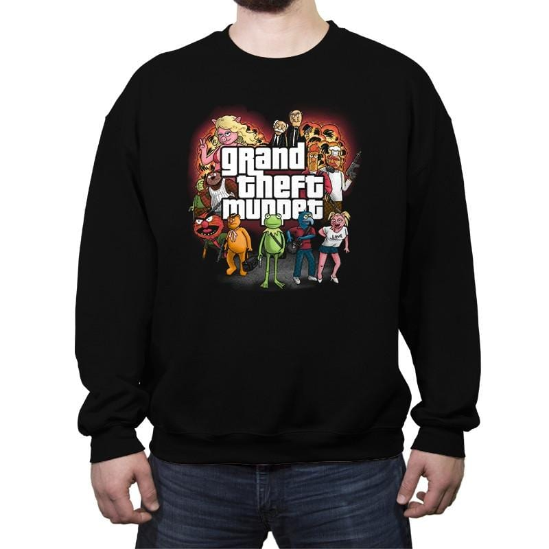 Grand Theft Muppet - Crew Neck Sweatshirt - Crew Neck Sweatshirt - RIPT Apparel