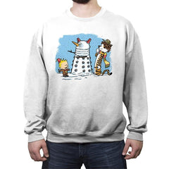 The Snow Dalek - Crew Neck Sweatshirt - Crew Neck Sweatshirt - RIPT Apparel